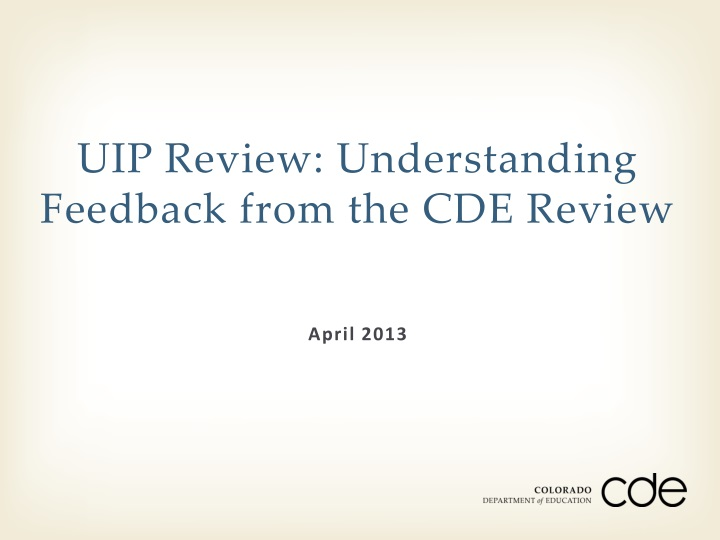 uip review understanding feedback from the cde review n.