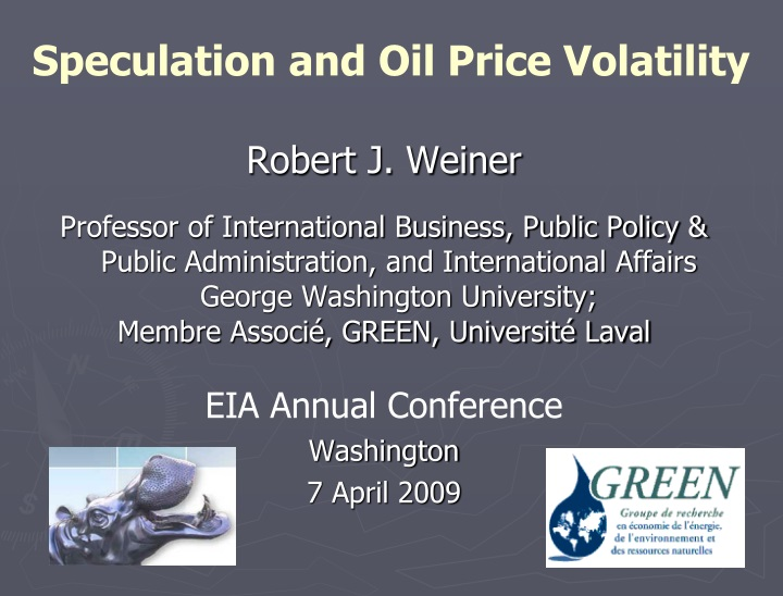 speculation and oil price volatility n.