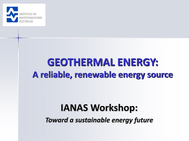 geothermal energy a reliable renewable energy source n.