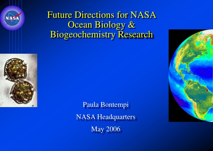 future directions for nasa ocean biology biogeochemistry research n.