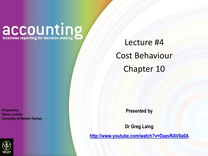 lecture 4 cost behaviour chapter 10 n.