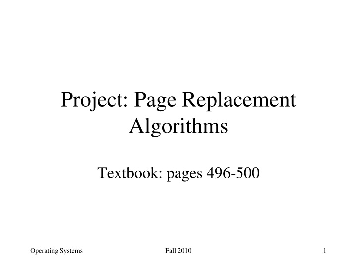 project page replacement algorithms n.