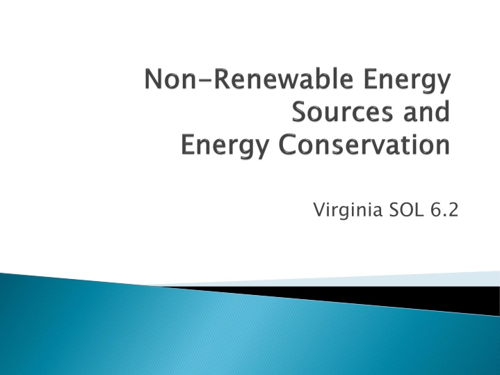 non renewable energy sources and energy conservation n.