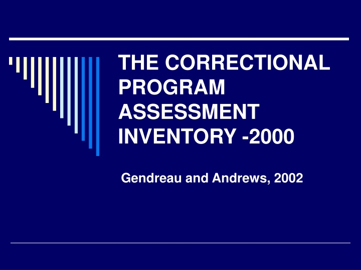the correctional program assessment inventory 2000 n.