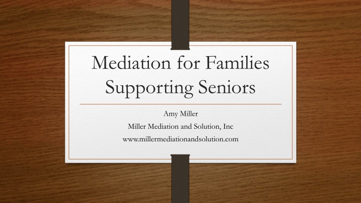mediation for families supporting seniors n.