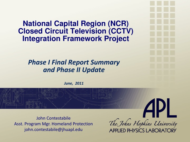 national capital region ncr closed circuit television cctv integration framework project n.
