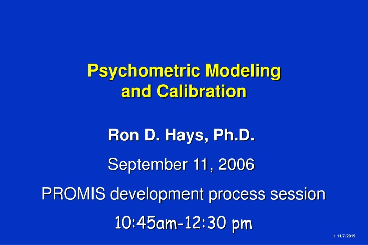 psychometric modeling and calibration n.