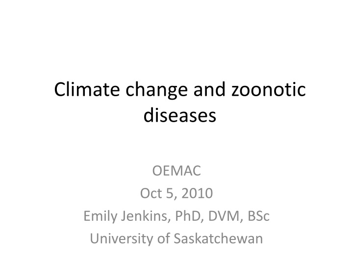 climate change and zoonotic diseases n.
