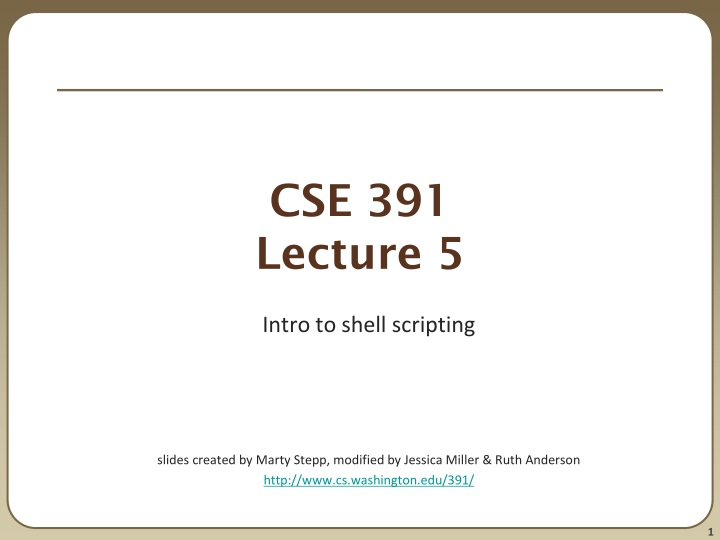cse 391 lecture 5 n.