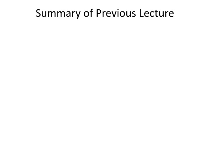 summary of previous lecture n.