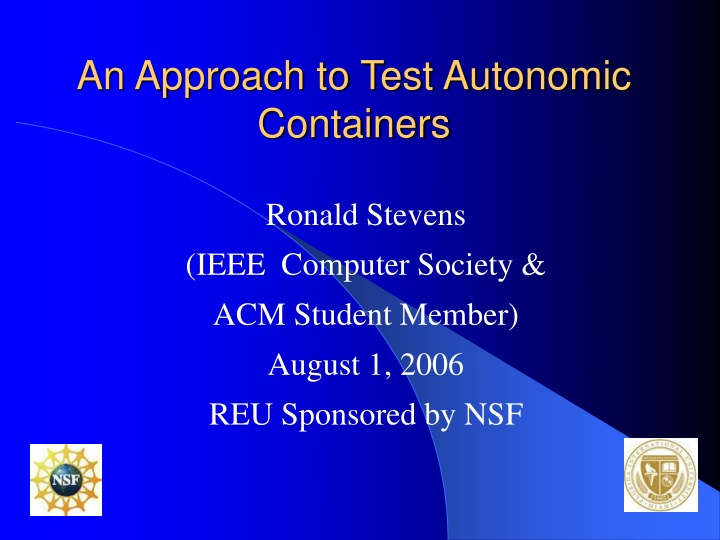 an approach to test autonomic containers n.