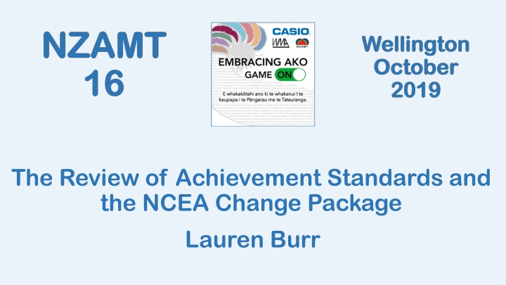 the review of achievement standards and the ncea n.
