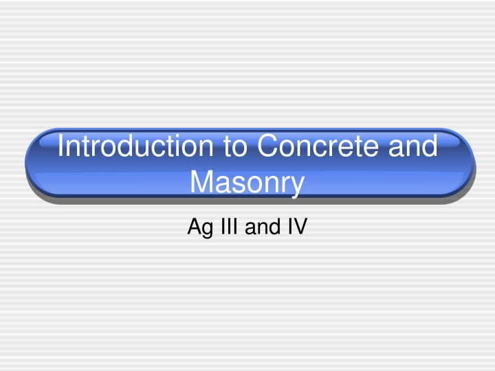 introduction to concrete and masonry n.