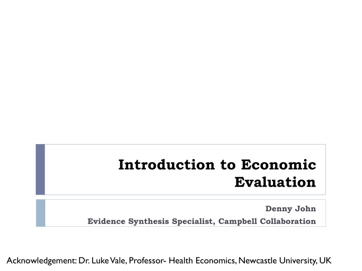 introduction to economic evaluation n.