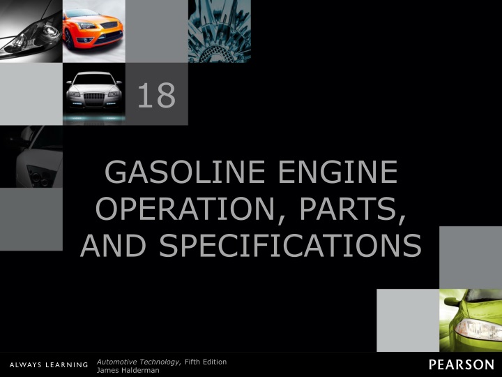 gasoline engine operation parts and specifications n.