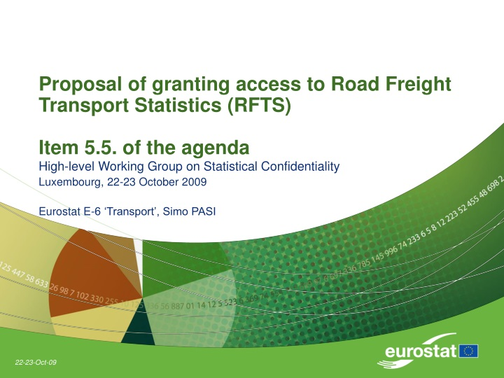 proposal of granting access to road freight transport statistics rfts item 5 5 of the agenda n.