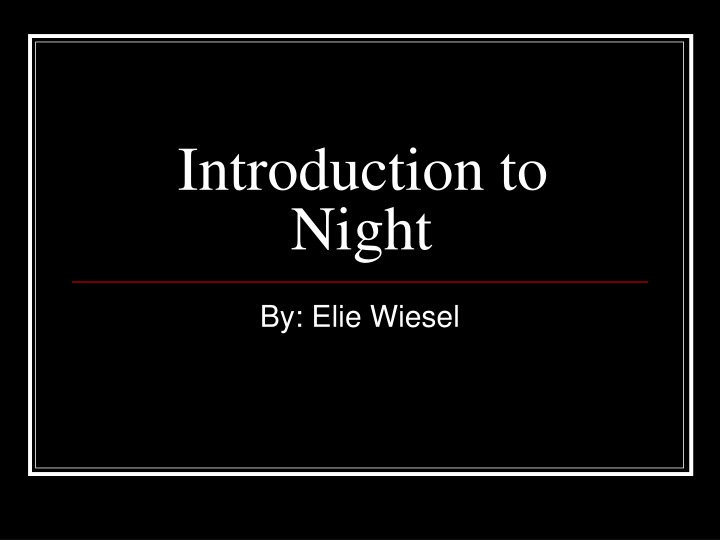 introduction to night n.