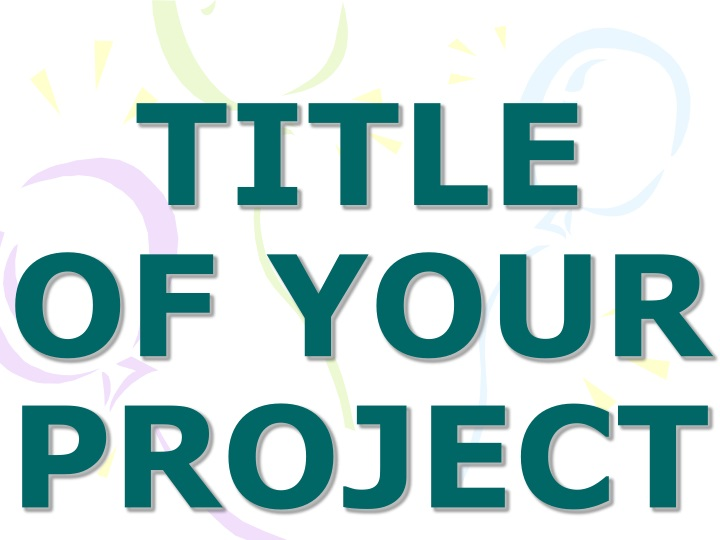 title of your project n.