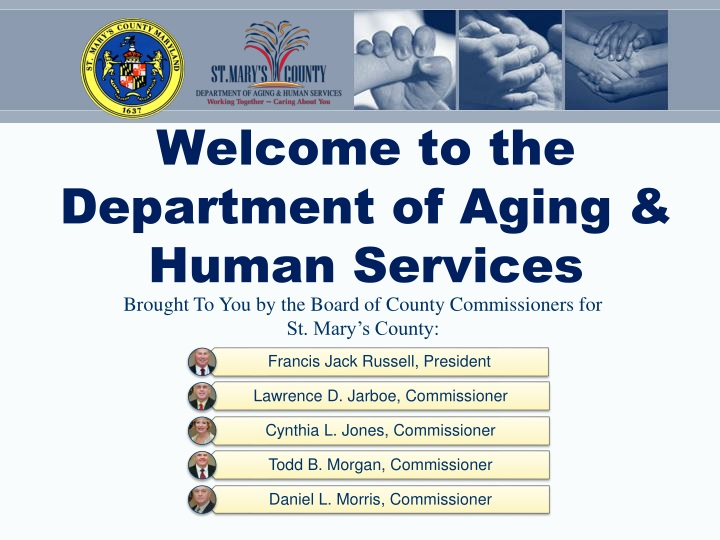 welcome to the department of aging human services n.