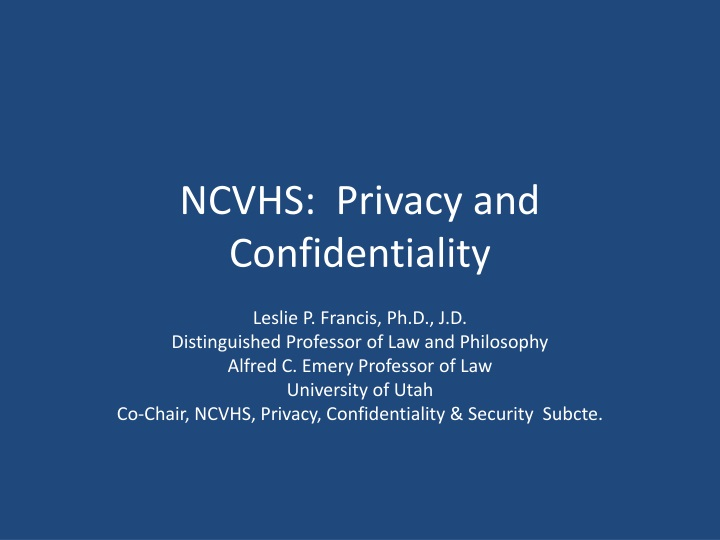 ncvhs privacy and confidentiality n.