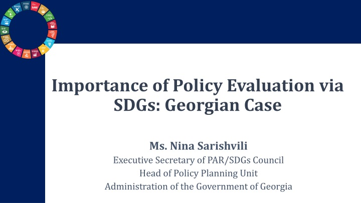 importance of policy evaluation via sdgs georgian case n.