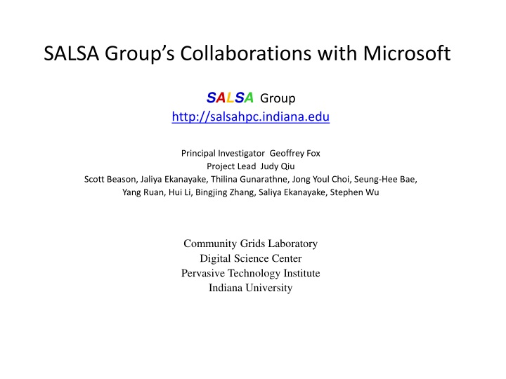 salsa group s collaborations with microsoft n.
