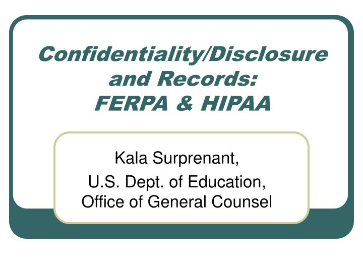 confidentiality disclosure and records ferpa hipaa n.