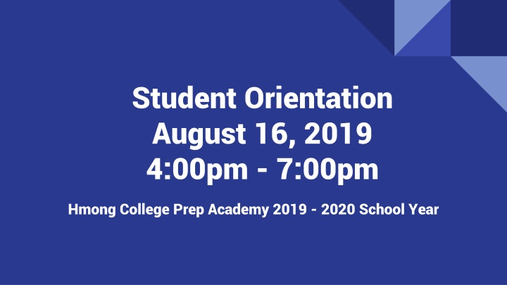 student orientation august 16 2019 4 00pm 7 00pm n.