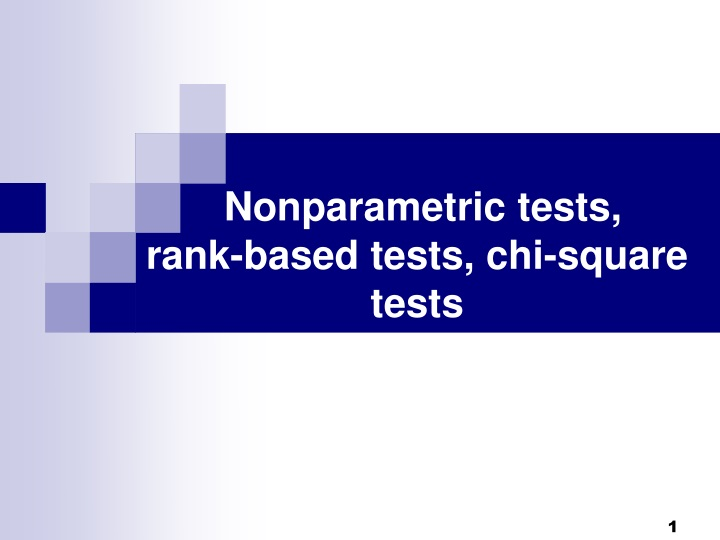 nonparametric tests rank based tests chi square tests n.