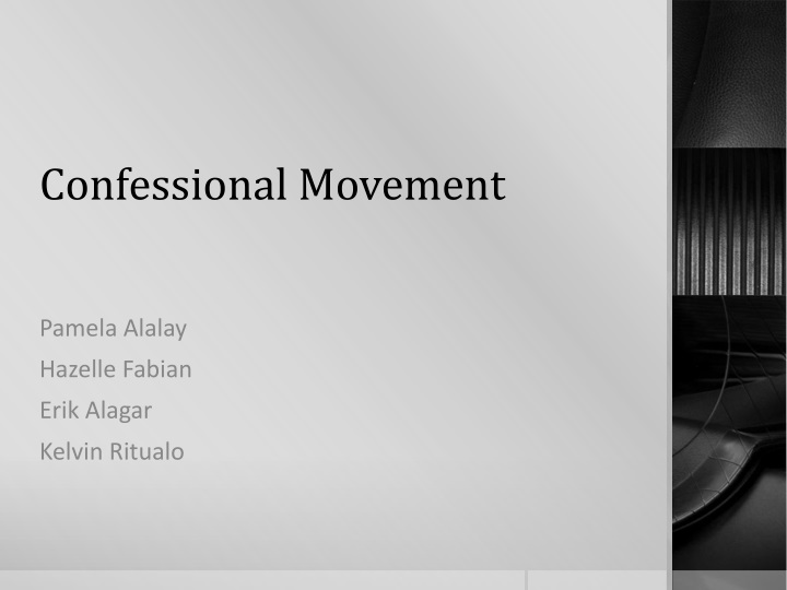 Ppt Confessional Movement Powerpoint Presentation Free Download