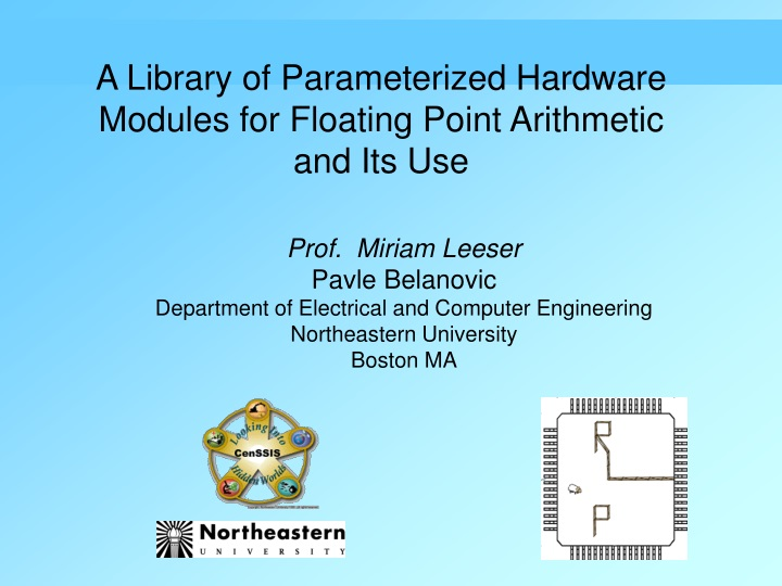 a library of parameterized hardware modules n.