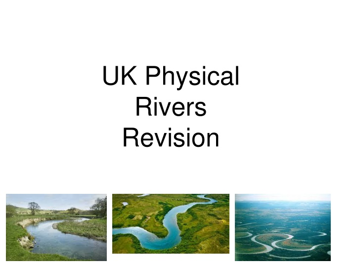 uk physical rivers revision n.