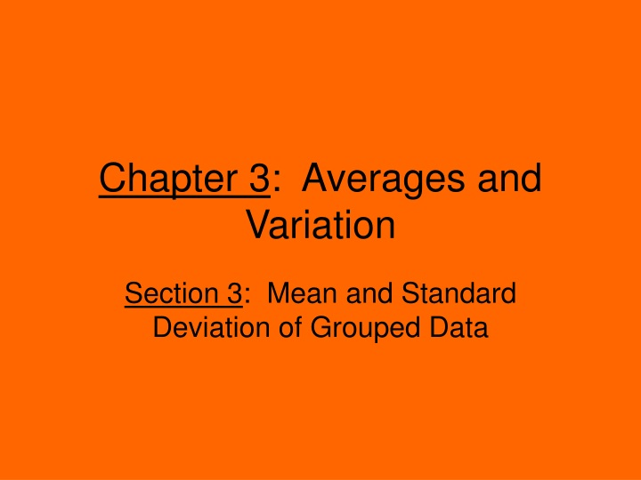 chapter 3 averages and variation n.