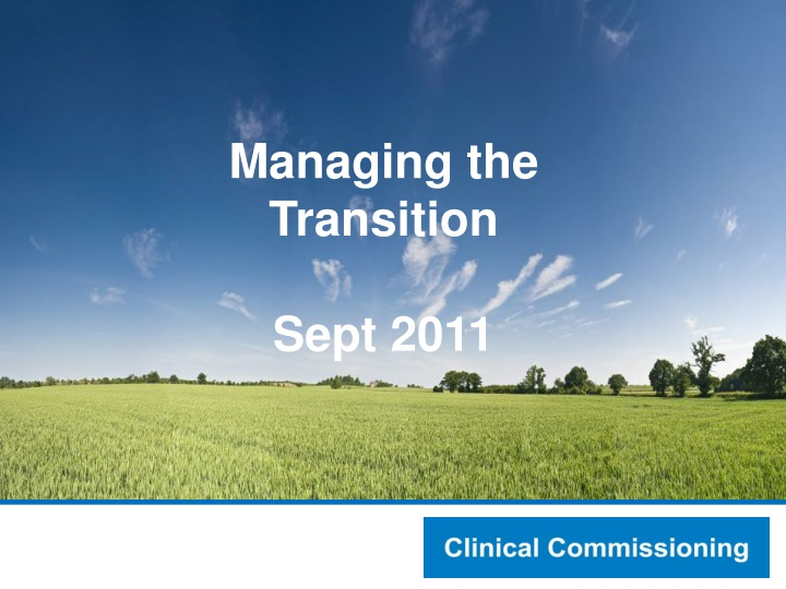 managing the transition sept 2011 n.