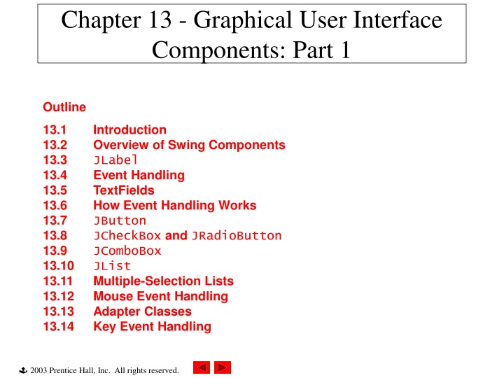 chapter 13 graphical user interface components part 1 n.