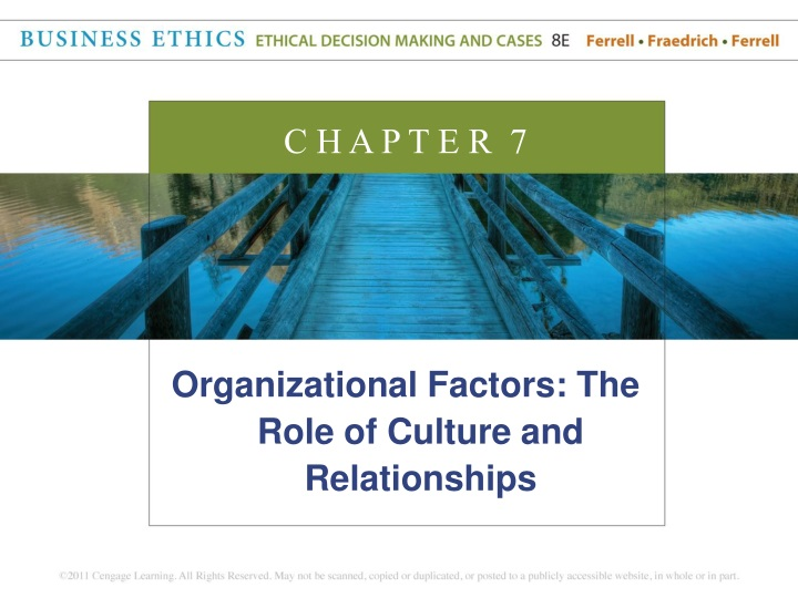 organizational factors the role of culture n.