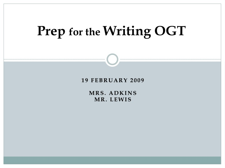 prep for the writing ogt n.