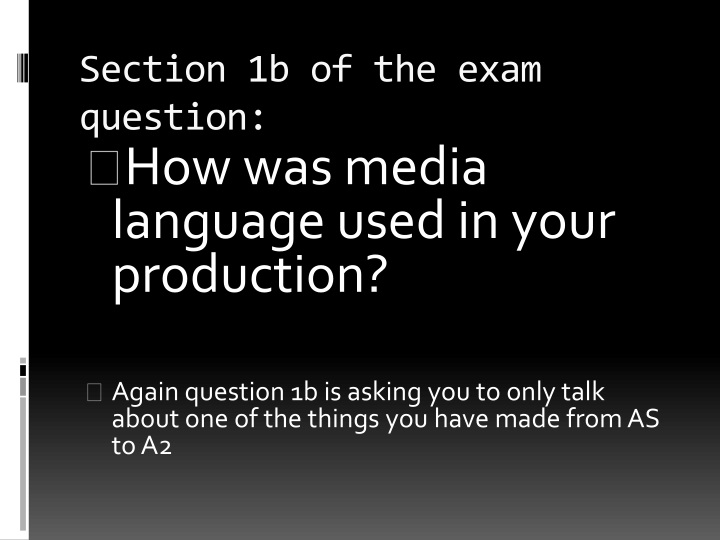 section 1b of the exam question n.