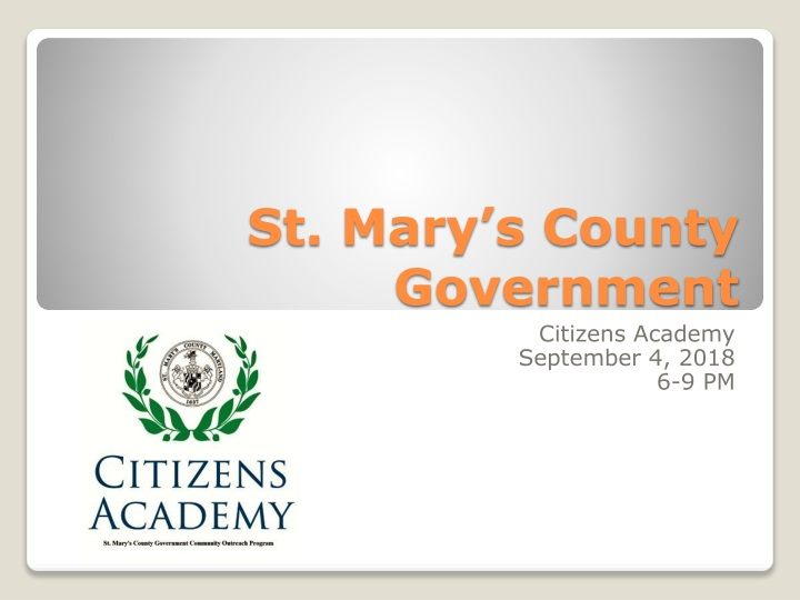 st mary s county government n.