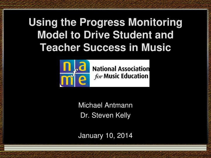 using the progress monitoring model to drive student and teacher success in music n.
