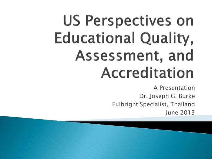 us perspectives on educational quality assessment and accreditation n.