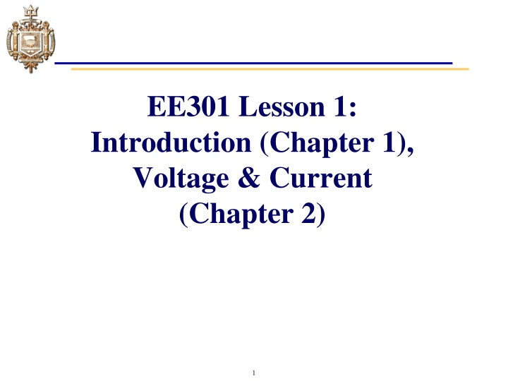 ee301 lesson 1 introduction chapter 1 voltage current chapter 2 n.