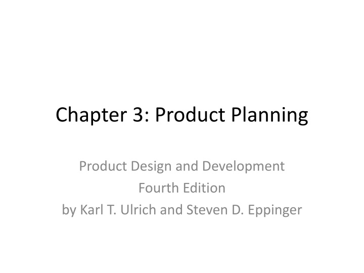 chapter 3 product planning n.