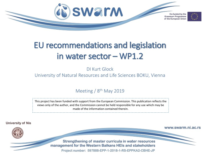 eu recommendations and legislation in water sector wp1 2 n.