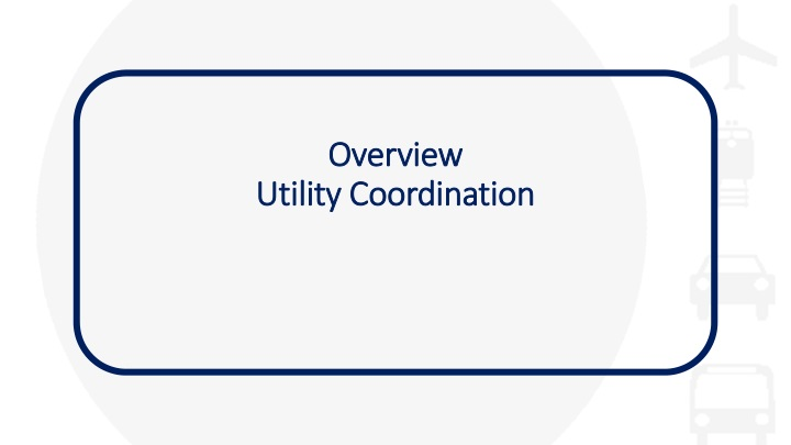 overview utility coordination n.