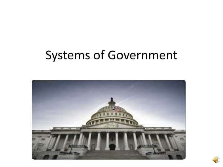 systems of government n.