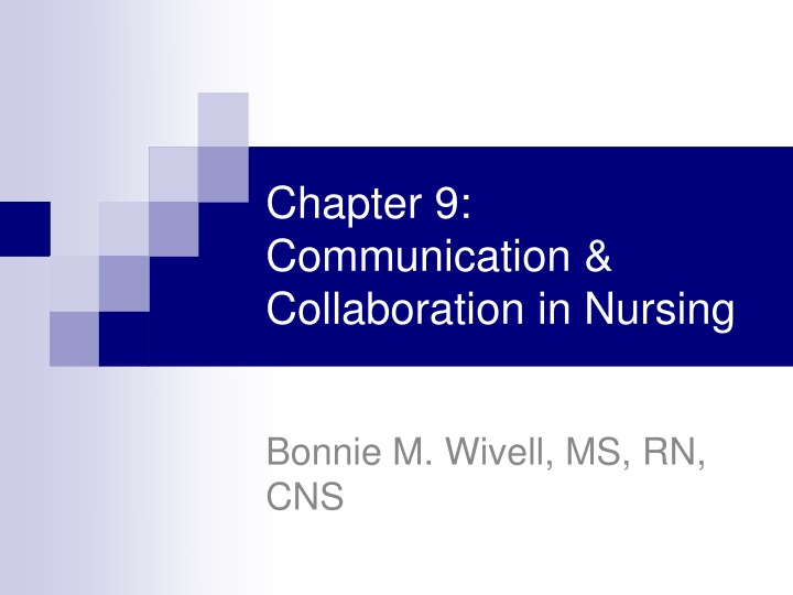 chapter 9 communication collaboration in nursing n.