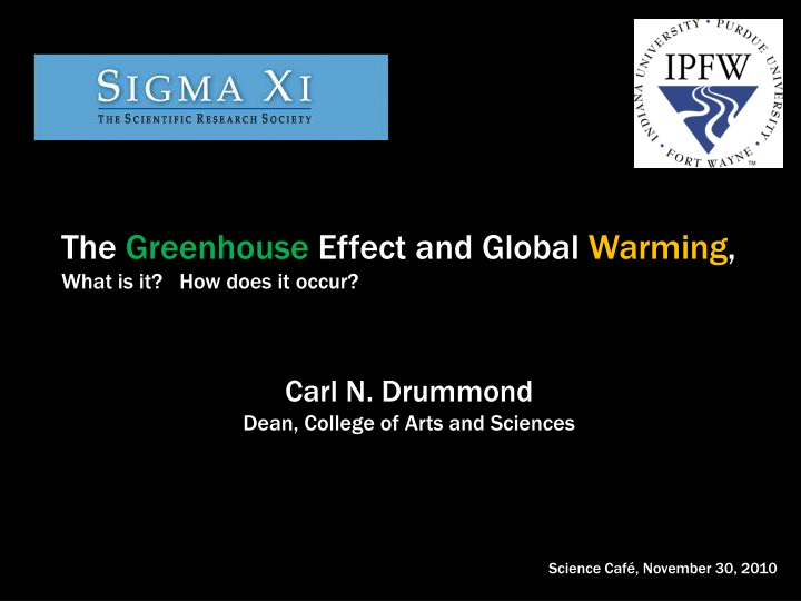 the greenhouse effect and global warming what n.