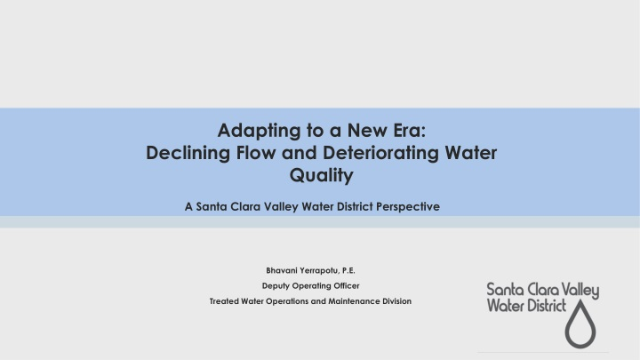 adapting to a new era declining flow and deteriorating water quality n.