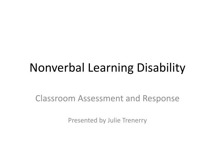 nonverbal learning disability n.